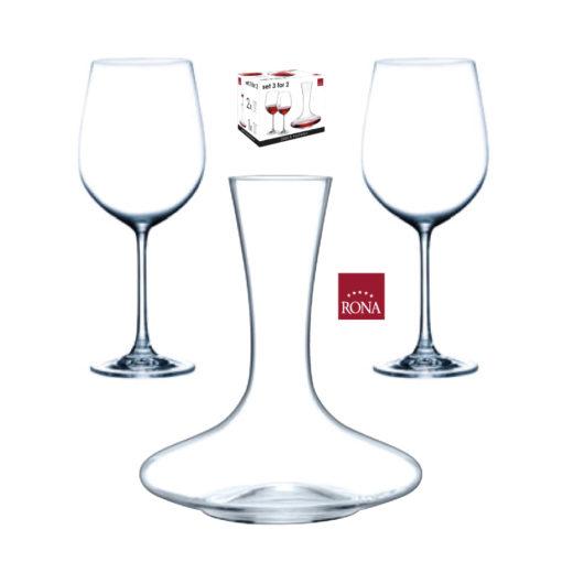 Set karafa na víno s dvoma pohármi RONA
