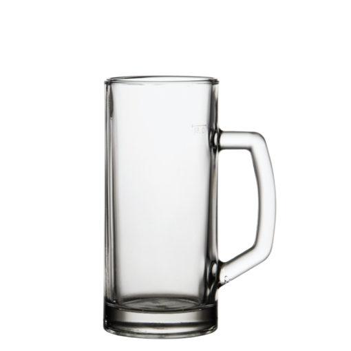 bernahladka05 krígeľ na pivo hladký clear